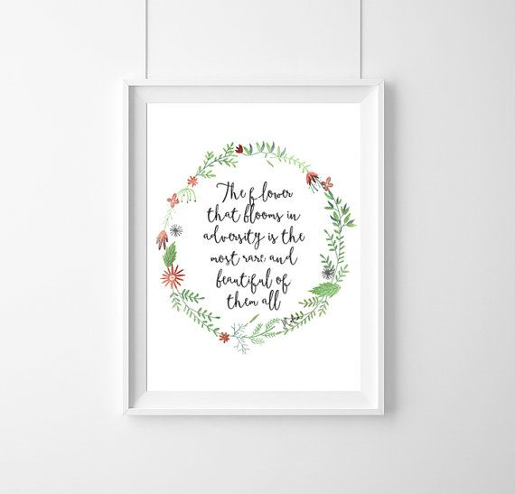 quote Disney MulanThe flower that blooms in by WeJustLikePrints