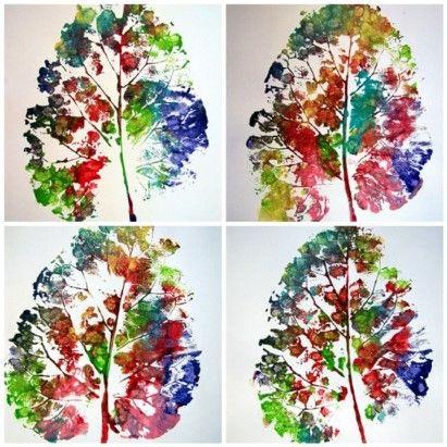 Creatief aan de slag met herfstbladeren