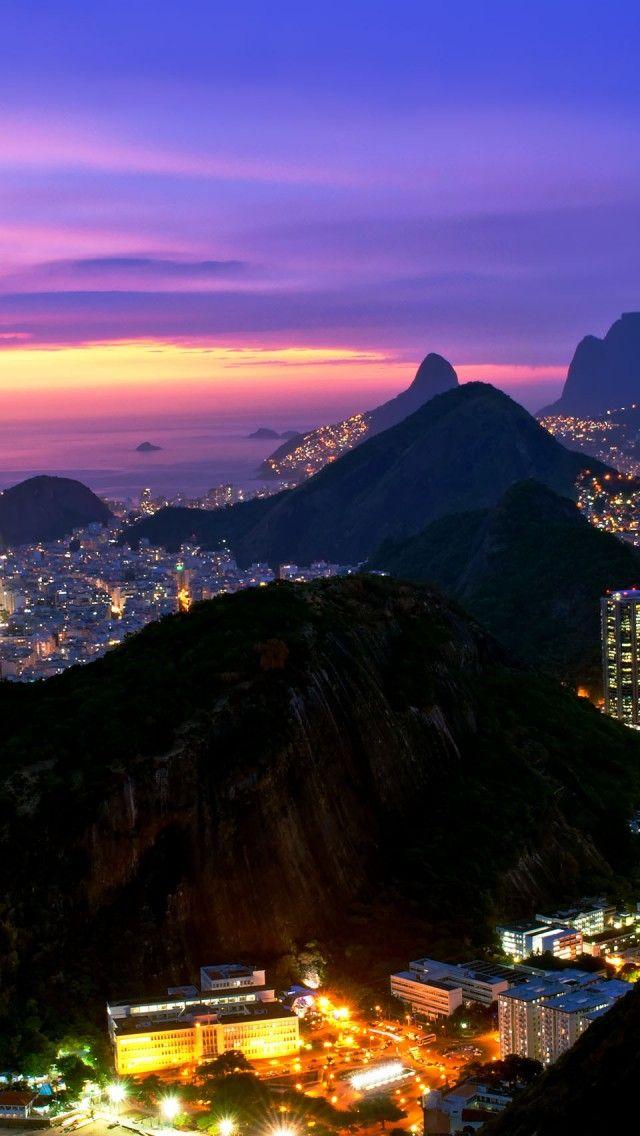 Rio De Janeiro Evening Lights,Brazil