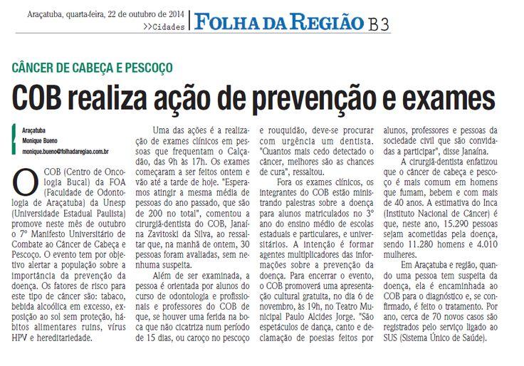 COB realiza ação de prevenção e exames