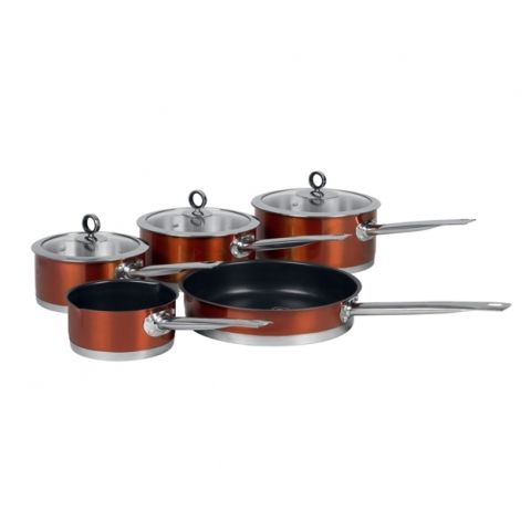 Copper pots and pans. £97.99 http://www.worldstores.co.uk/p/Morphy_Richards_Accents_5_Piece_Pan_Set_in_Copper.htm