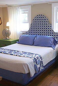 diy stof hoofdeinde, slaapkamer ideeën, ambachten, huis decor, ik hou van blauw en groen bij elkaar