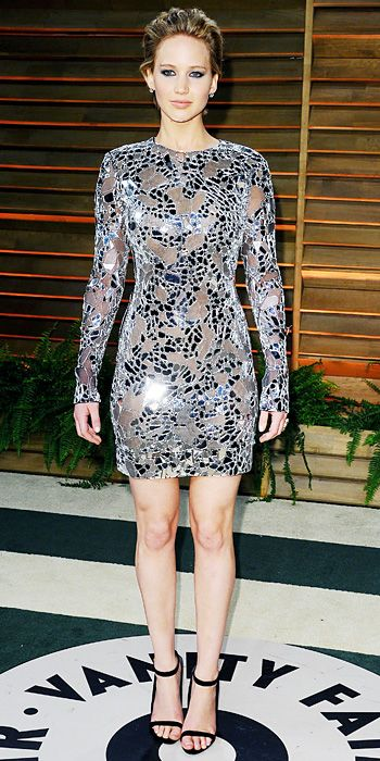 Look of the Day - March 3, 2014 - Jennifer Lawrence in Tom Ford: Love the dress!