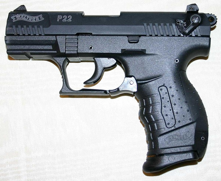 My first pistol.  Very accurate and easy to fire.  A must for anyone wanting to learn how to shoot, but afraid of larger caliber pistols.