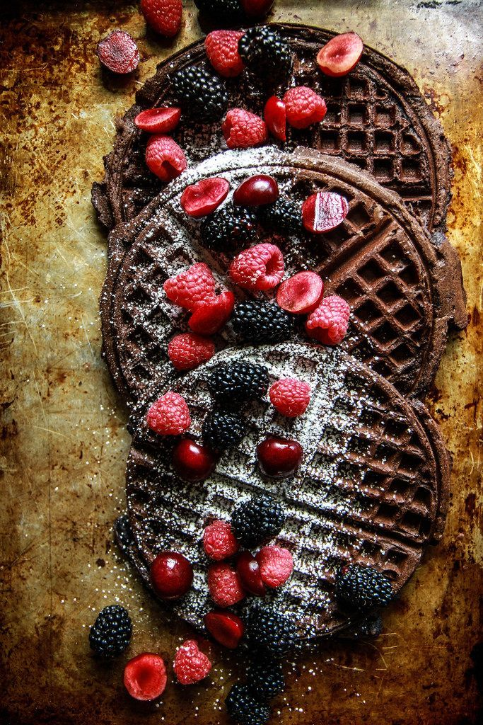 Chocolate Waffles- Gluten Free and Vegan from http://HeatherChristo.com