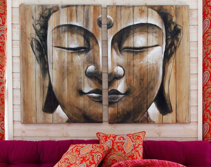 81 best images about d co des murs on pinterest for Tete de bouddha deco