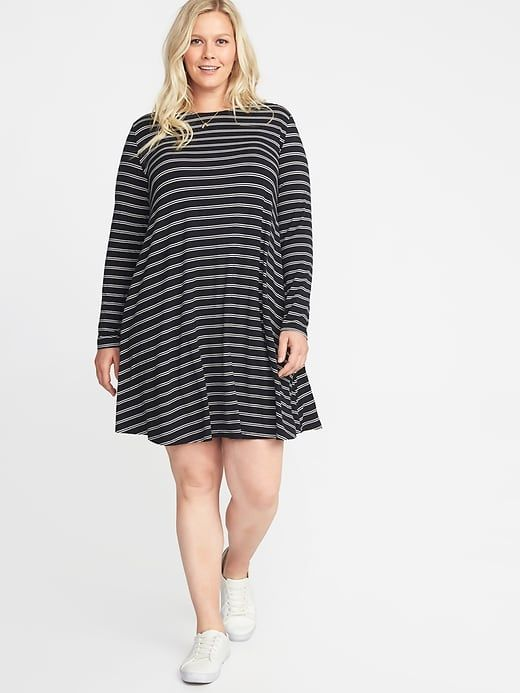 65233cfa145 Plus-Size Jersey Swing Dress