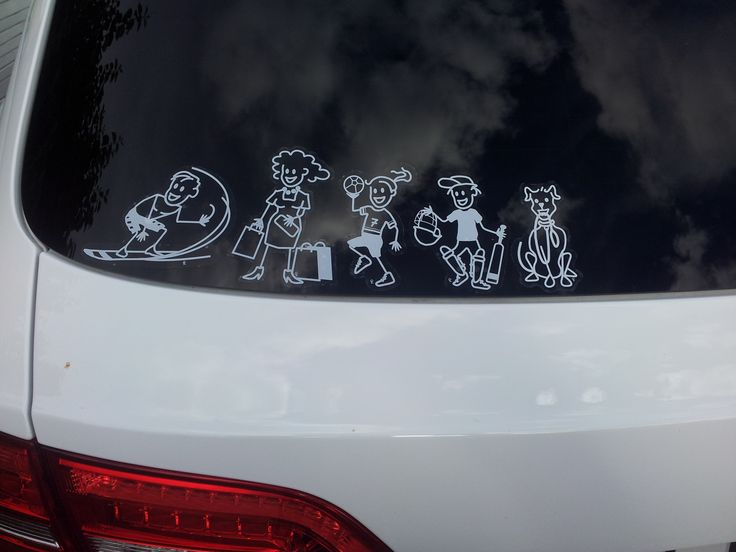 Family Car stickers Decals