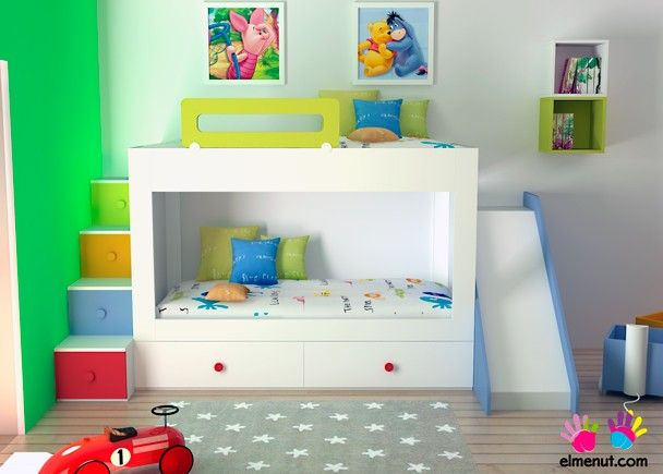 Las 25 mejores ideas sobre literas infantiles en for Ver habitaciones infantiles