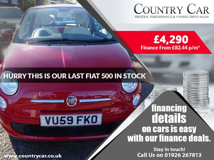 financing details on cars is easy with our finance deals. Stay in touch! 01926 267813 £4,290 | 2009 59 FIAT 500 1.2 POP 3D 69 BHP Finance From £82.44 p/m     #fiat #fiat500 #usedfiat #fiatusedcar #3d #2009car #amazingusedcar #financecar #financeusedcar #f