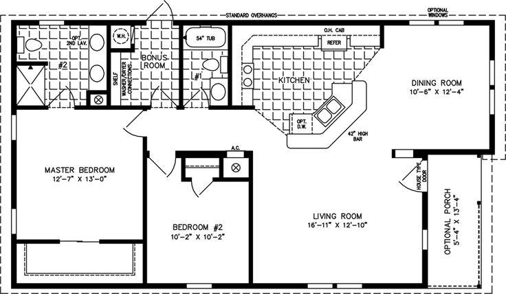 Home Plans Under 1000 Square Feet | The T N R • Model TNR-6481B