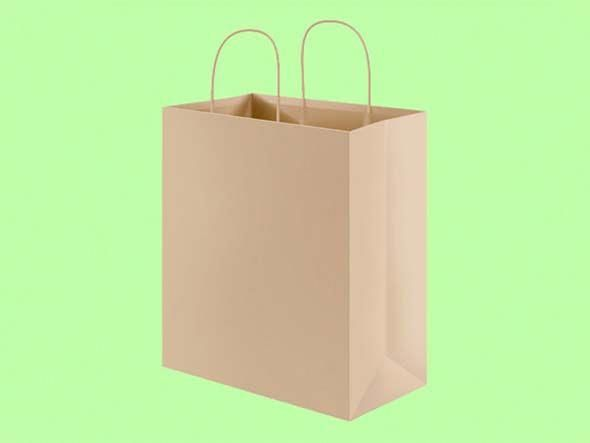 Download Free Psd Recycled Paper Shopping Bag Mockup