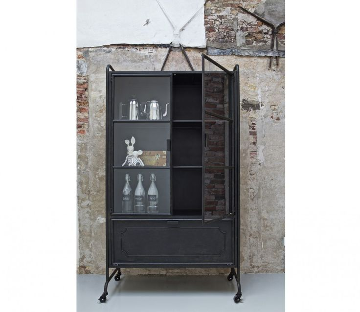 Be Pure Home - Vitrinekast Steel Storage Zwart