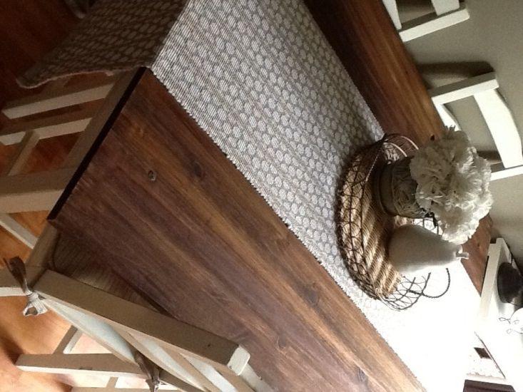 ikea table turned rustic