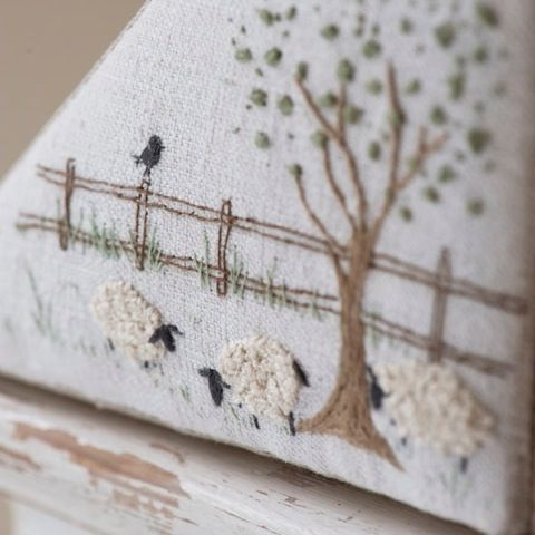 The hand-stitched home by Caroline Zoob