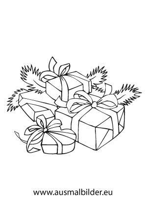 ausmalbild haufen mit geschenken ausmalbild weihnachtspakete mit bonbons zum kostenlosen