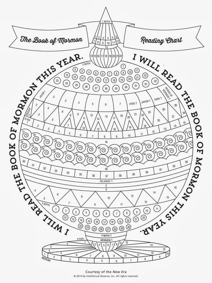 Le tableau de lecture du Livre de Mormon, par New Era   – SCRIPTURE STUDY