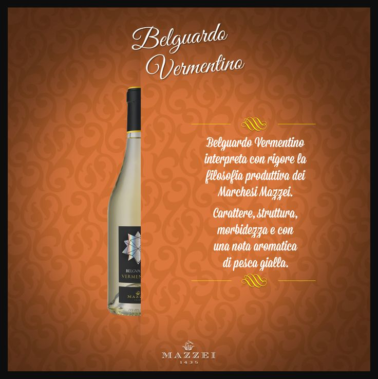 VERMENTINO - This Wine expresses the production philosophy of the Marchesi Mazzei. Character, structure, and softness with an interesting aromatic note of yellow peach. @marchesimazzei   #winegallery  #marchesimazzei #Belguardo  #wine #tuscany #winelovers
