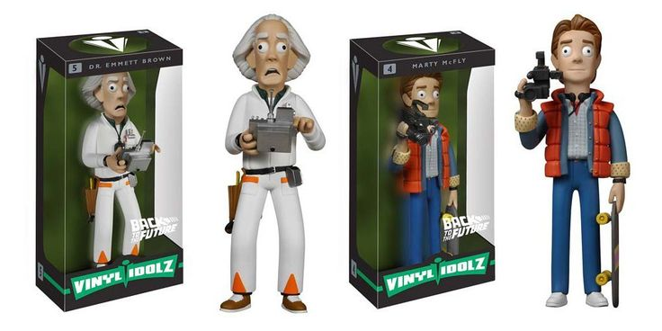Back to the Future Marty McFly and Dr. Emmett Brown Vinyl Idolz Figures Set of 2