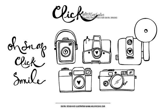Click PNG Digital Clip Art and Photoshop Brush by HollyMcCaig, $5.00