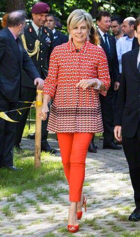 Dutch Princess Laurentien arrives to open the new wing of the Max Planck Institute for Psycholinguistics in Nijmegen, the Netherlands, 10 June 2015.
