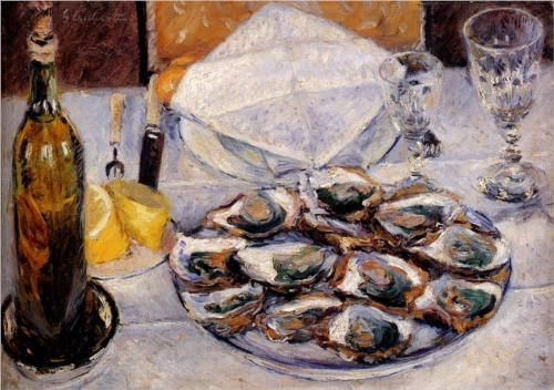Still Life with Oysters - Gustave Caillebotte, 1881, private collection