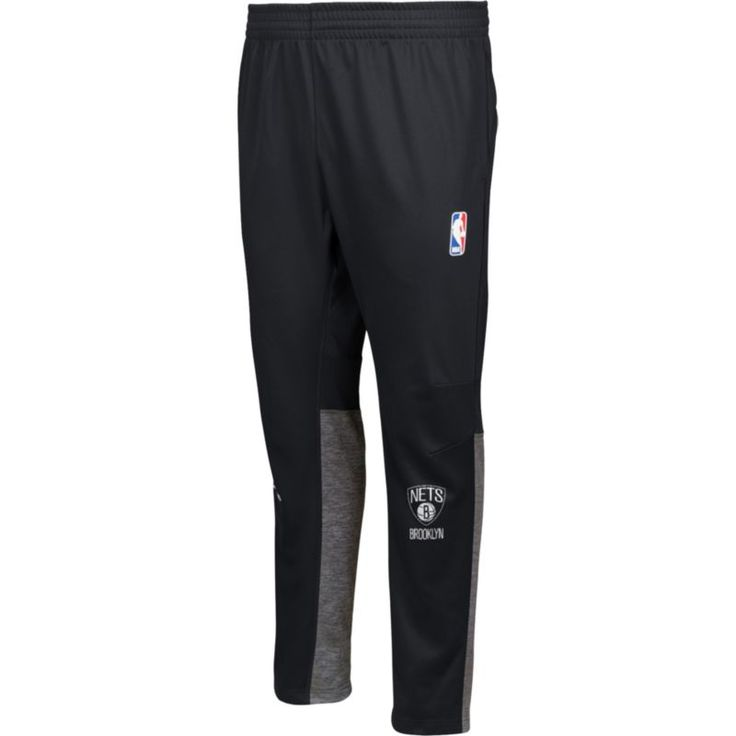 adidas Men's Brooklyn Nets On-Court Black Pants, Size: Medium
