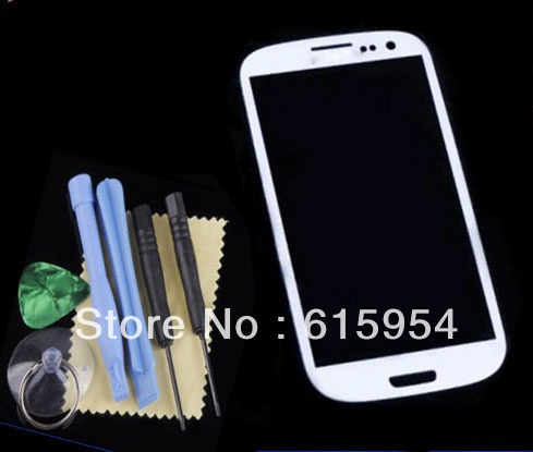 Front lcd Touch screen Outer Glass Lens for  Samsung Galaxy S3 i9300 white + tools + film guard on AliExpress.com. $14.99