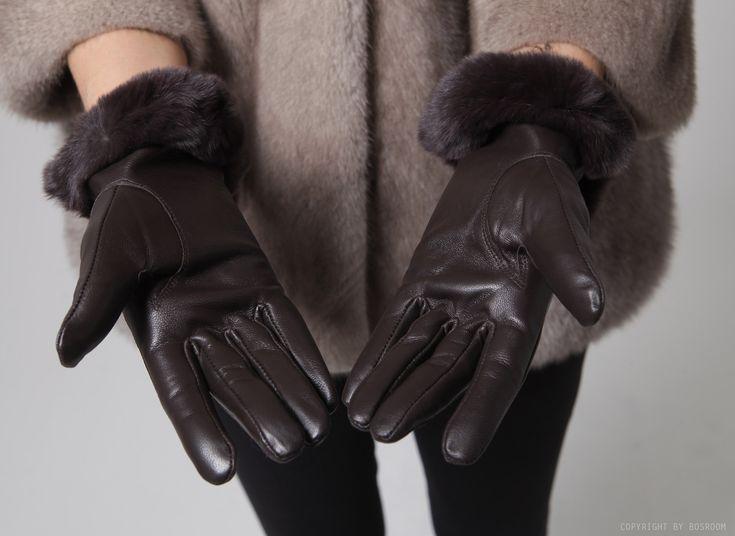 BOSROOM │ Shop trendy leather & fur clothing / Rex fur leather gloves