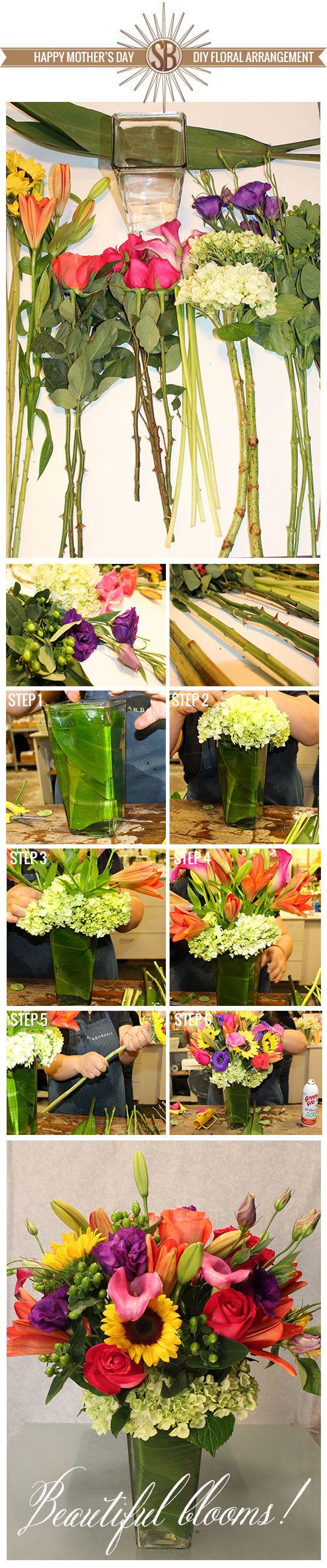 Mothers Day DIY Floral Arrangement    flowers floral arrangements & mother's day