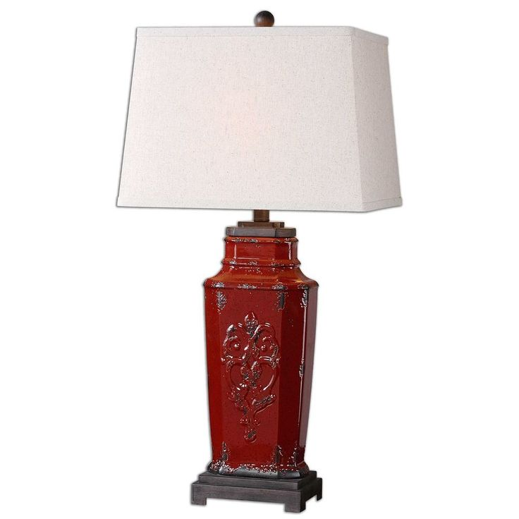 uttermost centralia red lamp