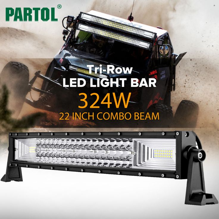 Partol 22 Inch 324W Tri-Row Curved LED Light Bar //Price: $161.99 & FREE Shipping //     #navigation