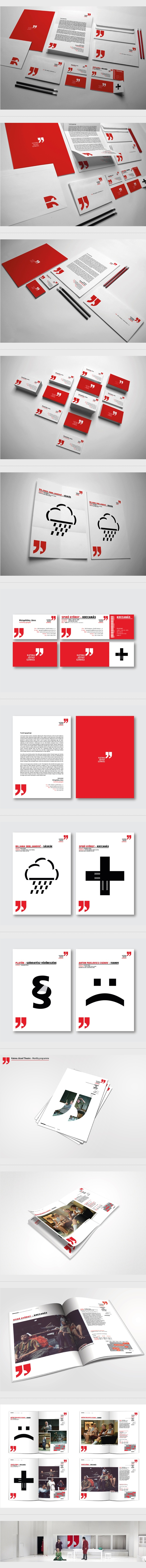 I really love the red and the quotes icon. It's also very uncluttered. Love good, clean design. Katona József Theatre on Behance #branding