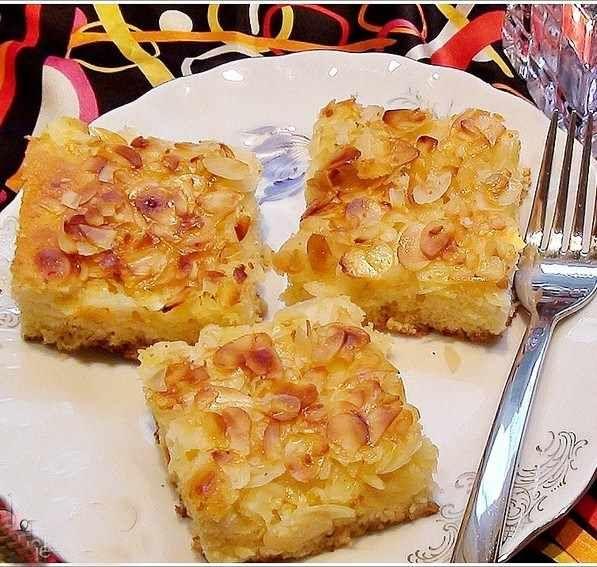 File Bademli Kremalı Kek Tarifi
