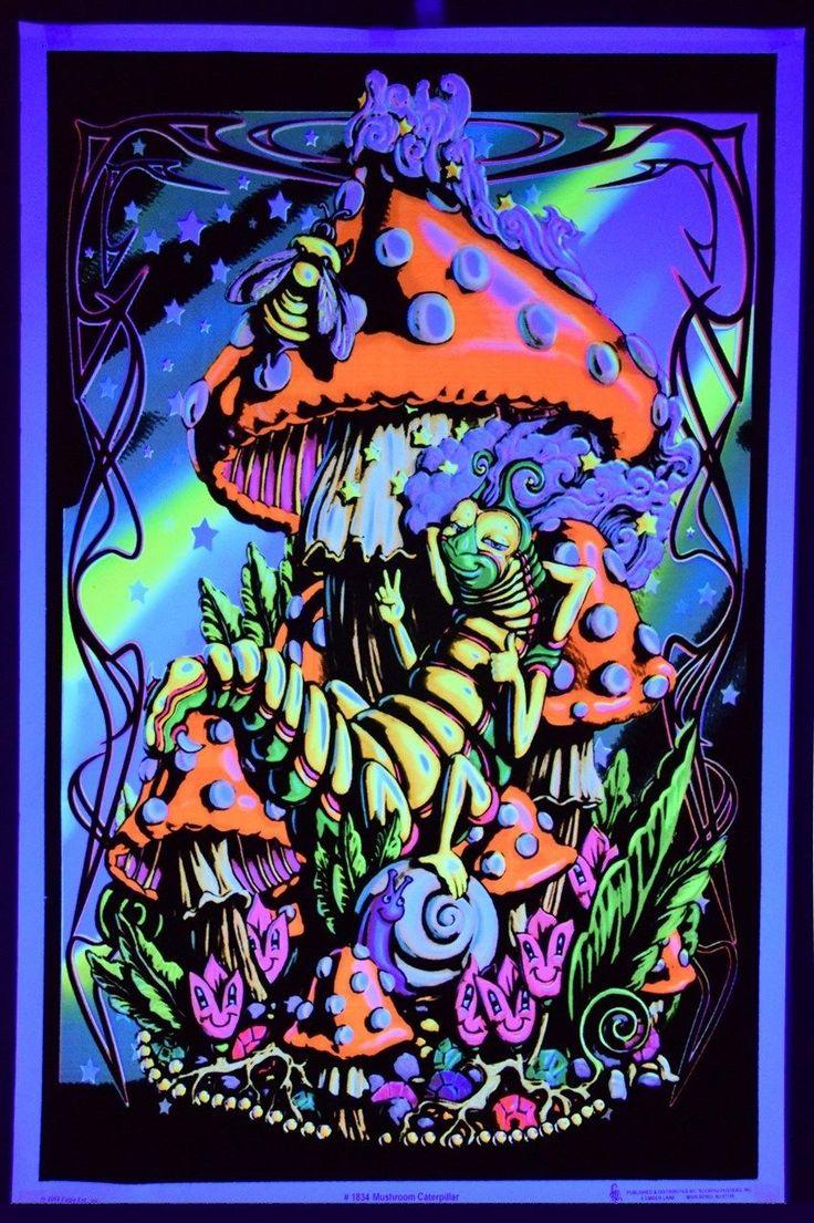 Mushroom+Caterpillar+Blacklight+Poster.JPG 852×1.280 Pixel