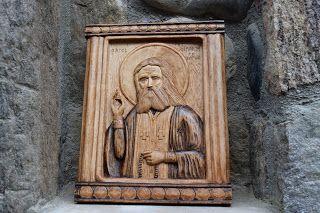 ΞΥΛΟΓΛΥΠΤΙΚΗ WOOD CARVING резьба по дереву Λυδιανός: Αγιος Σεραφείμ του Σαρωφ. 20χ25 σε ξύλο Φλαμουριάς...