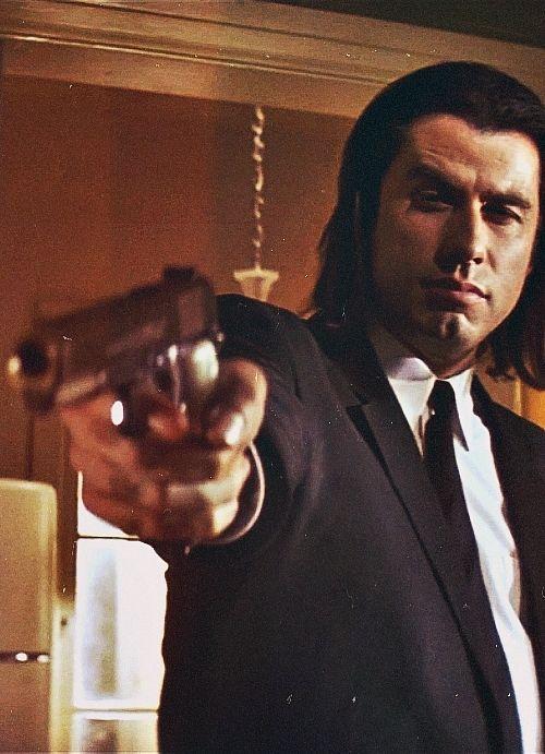 Vincent Vega. The coolest character John Travolta has ever played. Pulp Fiction.