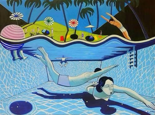 "Daily Paintworks - ""Summertime"" - Original Fine Art for Sale - © Gonzalo Centelles"