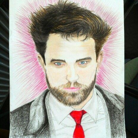#RobertPattinson #Instagram #sketch #draw #cizim #paint #follow  Robert Pattinson  @_aliekber_