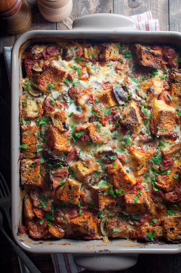 Italian Overnight Breakfast Bake | Community Post: 21 Mouthwatering Vegetarian Christmas Mains That Are Not Lentil Loaf