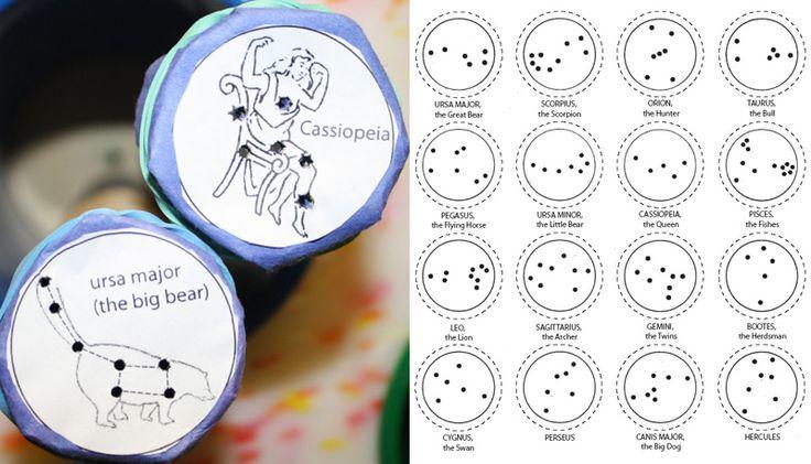 Constellation templates for flashlights!