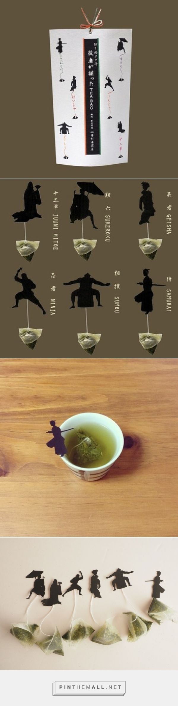 Asian inspired tea bags.