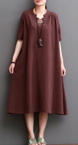 caftans linen dresses for summer plus size linen clothing