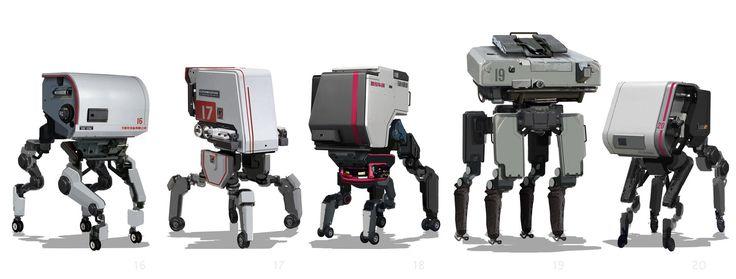ArtStation - Robot Group 04, Sam Brown