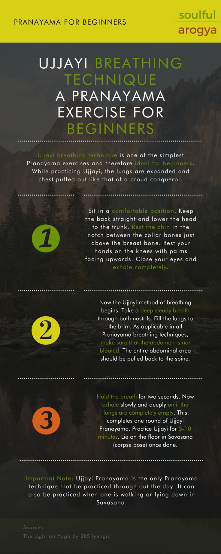 Ujjayi Pranayama: How to Master the Ancient Yoga Breathing Technique [Infographic]