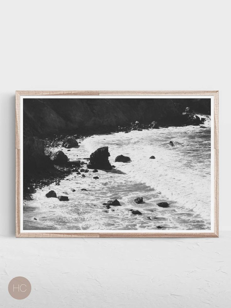 Black And White Print,Horizontal Print,Coastal Wall Art,Coastal Print,Black  And White Art,Coastal Art,Black And White,Horizontal Wall Art