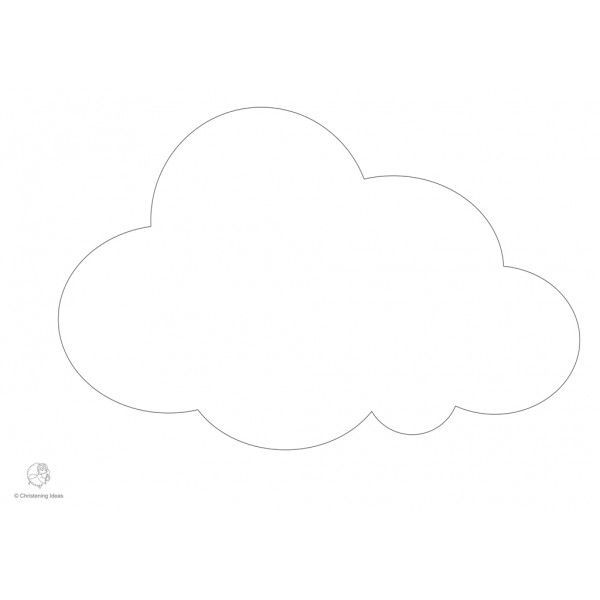 Cloud Cut Out Template                                                                                                                                                      More