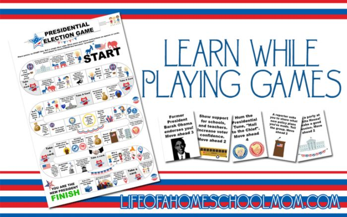 FREE Presidential Election Board Game