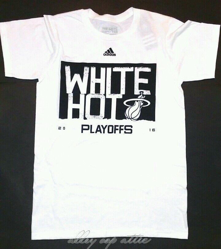 Miami Heat Adidas White Hot 2016 NBA Playoffs Arena T-Shirt #adidas #MiamiHeat