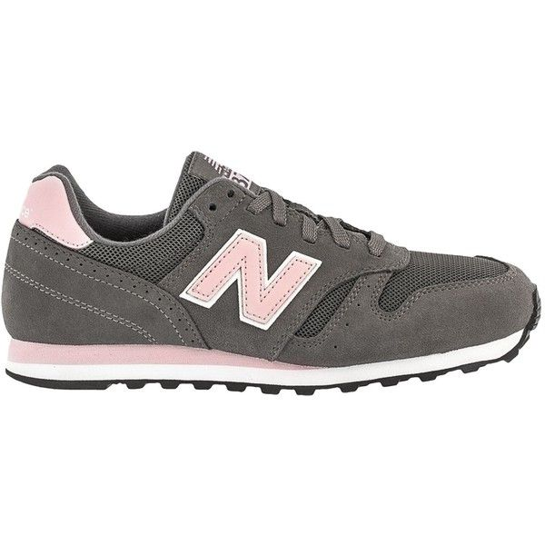 New Balance | New Balance 373 | Women's Lifestyle | W373SGP ($36) ❤ liked on Polyvore featuring shoes, athletic shoes, grey, gray suede shoes, gray shoes, new balance, grey shoes and suede shoes